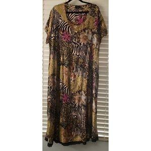 Lola P Animal Print Dress Size Xl